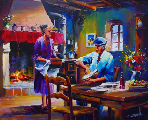 Repas Paysan by  Christian Jequel  - Masterpiece Online