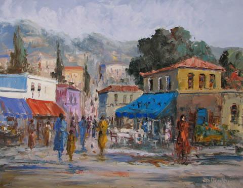 Grecian Village by  Fani  Parlapani  - Masterpiece Online