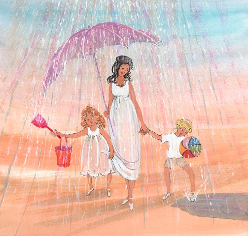 DP-RAIN DROPS AND PUD... by  P. Buckley Moss  - Masterpiece Online
