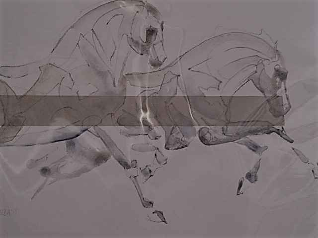 Equine Original on Pa... by  Jessica Potenza - Masterpiece Online