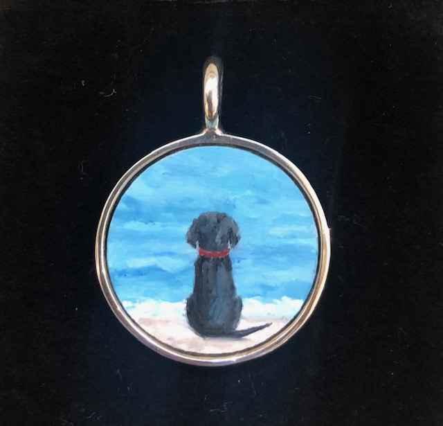 #270 Sm. O Black dog by  Nell Mercier - Masterpiece Online