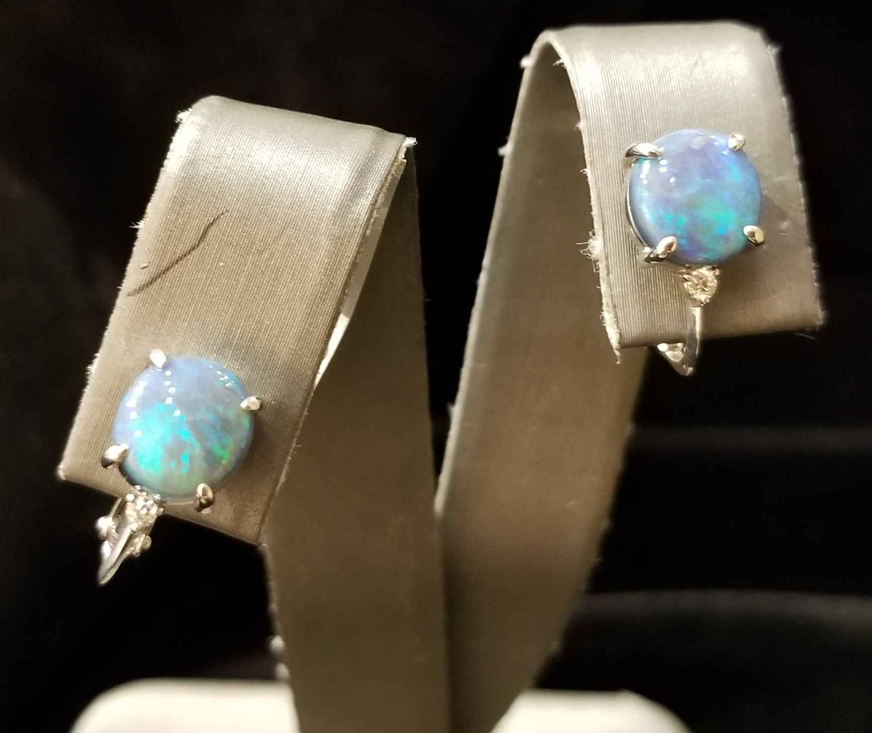 Opal Earrings - WG by  My Jeweler - Masterpiece Online