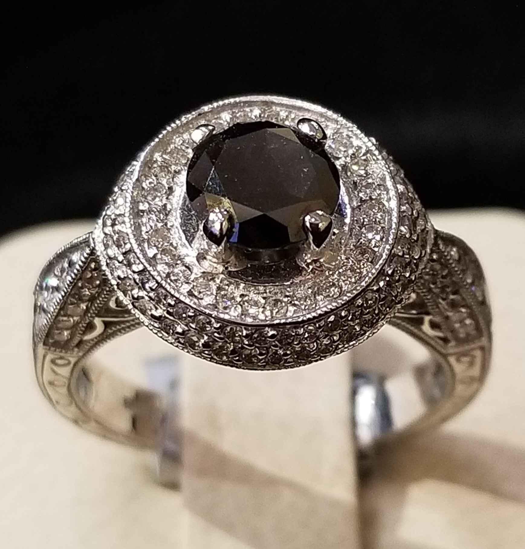 Black Diamond Ring - ... by  My Jeweler - Masterpiece Online