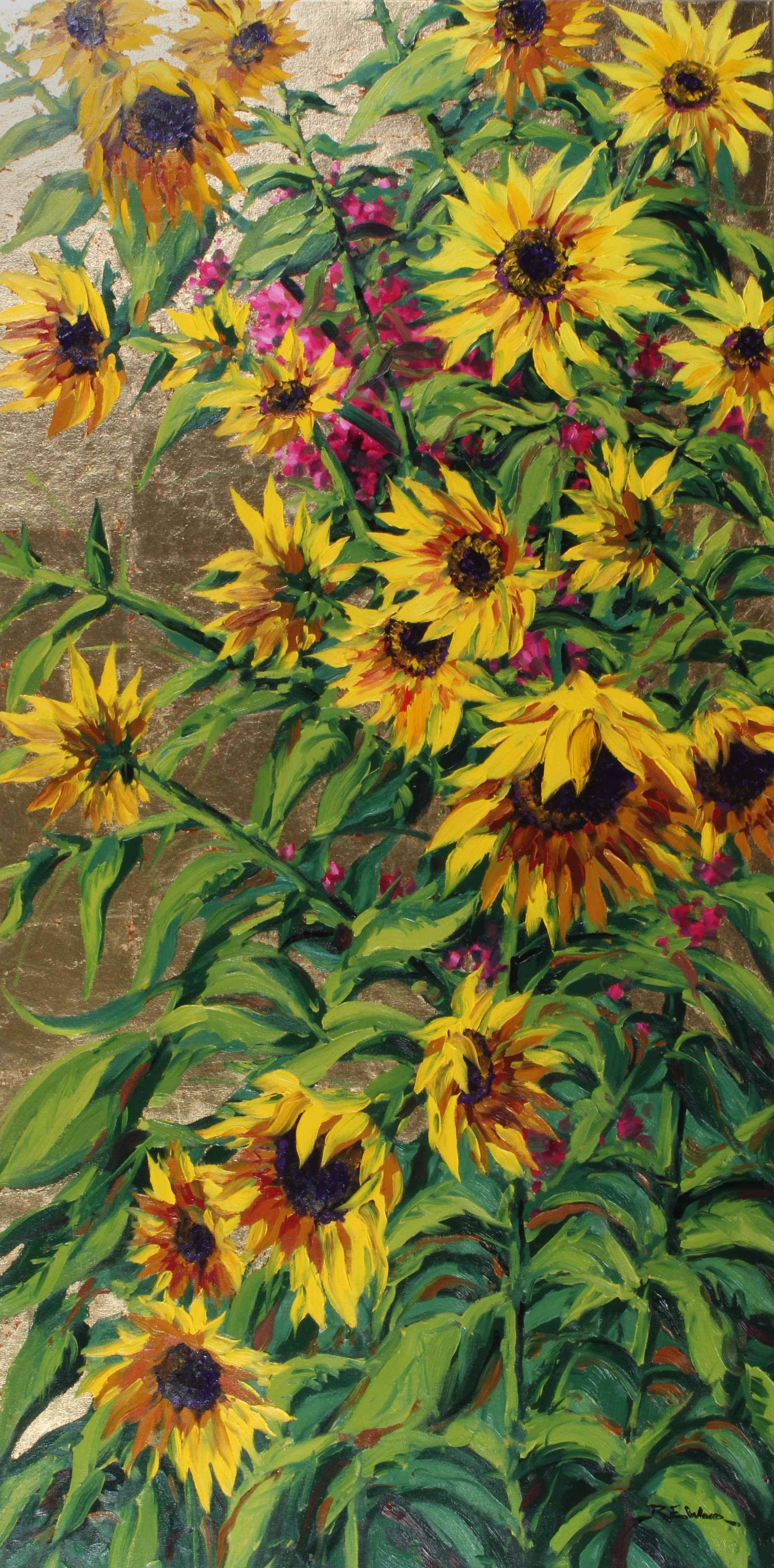 Golden Sunflowers  by  Robert E. Wood