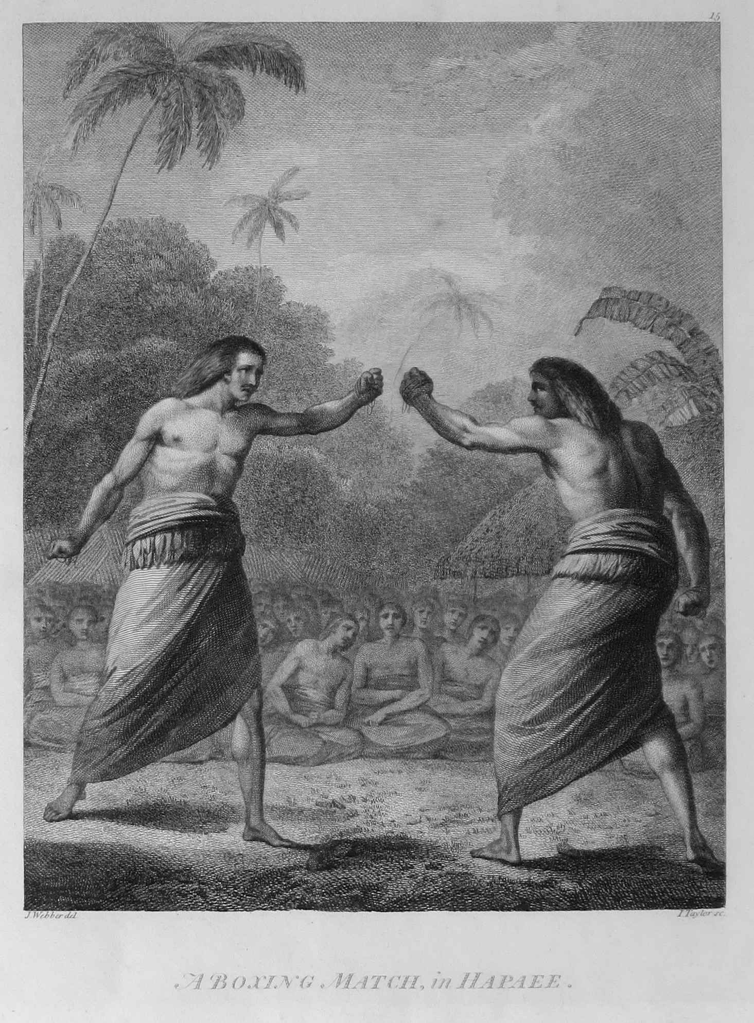 A Boxing Match in Hap... by  John Webber (1752-1793) - Masterpiece Online
