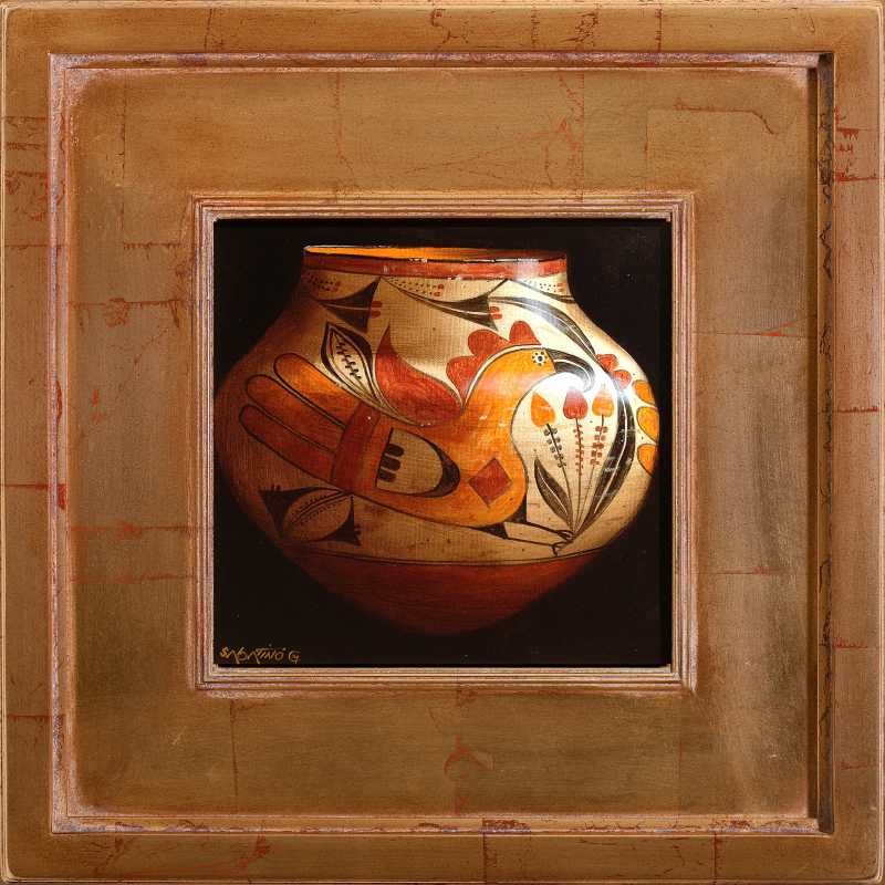 Acoma Polychrome Jar by  Chuck Sabatino - Masterpiece Online
