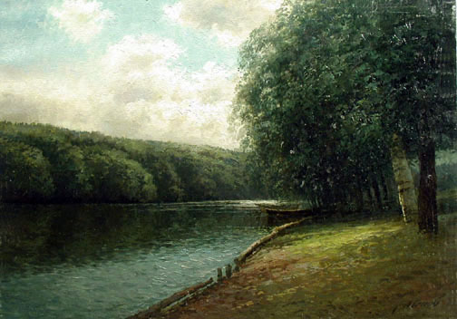 The River's Edge by  Alexander Popoff  - Masterpiece Online