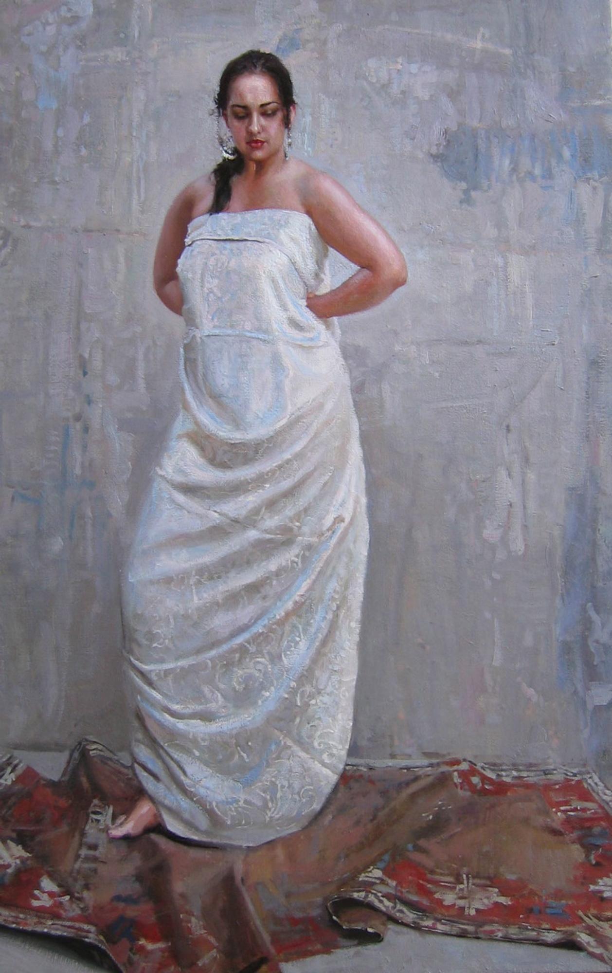 In the Courtyard (On ... by  Daud Akhriev - Masterpiece Online