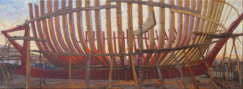 Structure of the Boat by  Daud Akhriev - Masterpiece Online