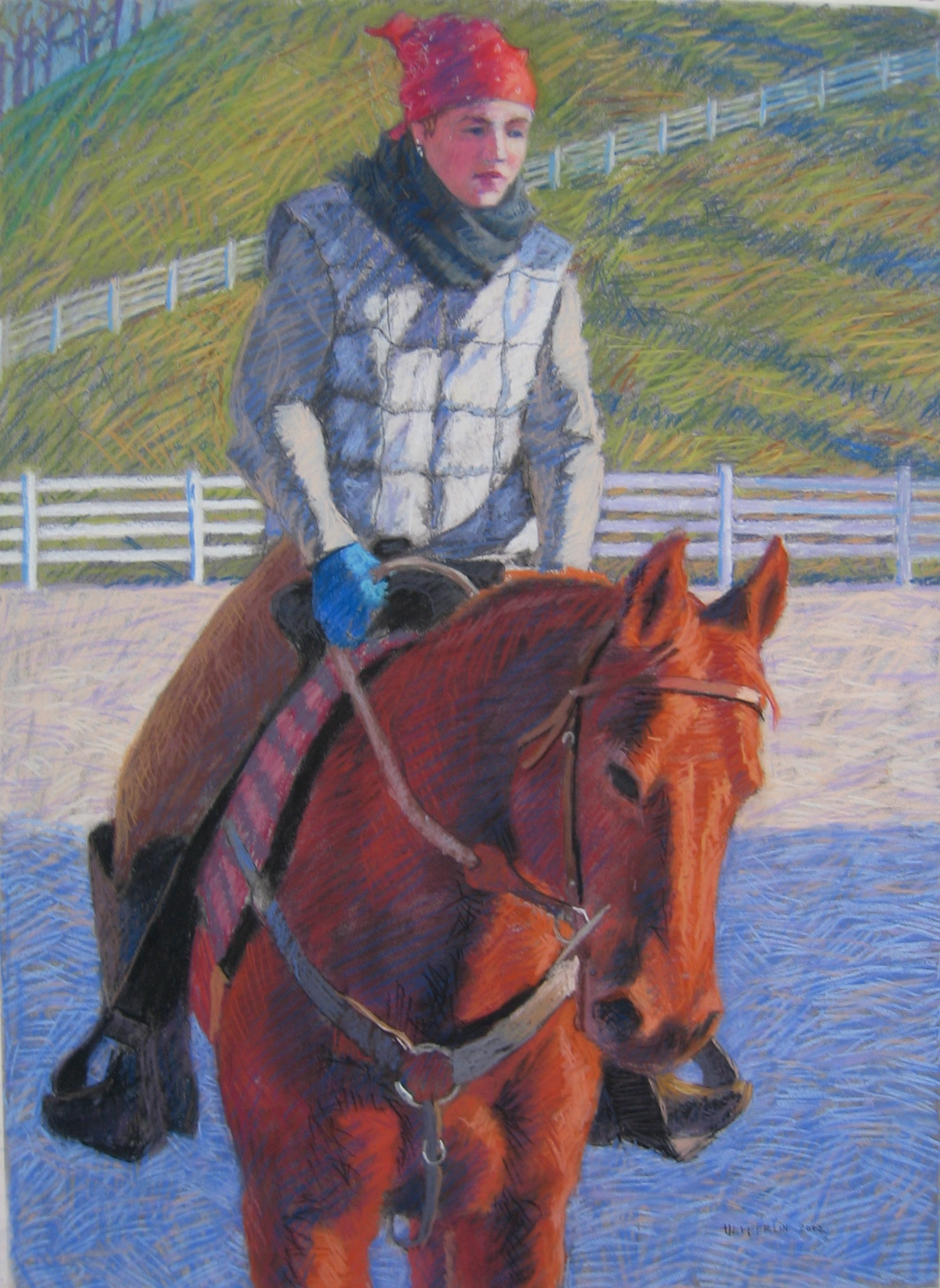 The Riding Lesson by  Melissa Hefferlin - Masterpiece Online
