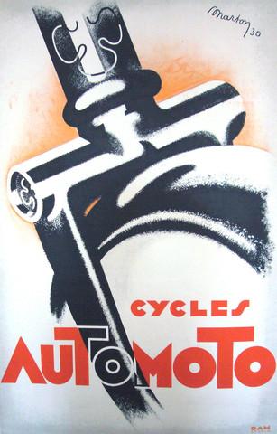 1930 Cycles automoto ... by   Lajos Marton - Masterpiece Online