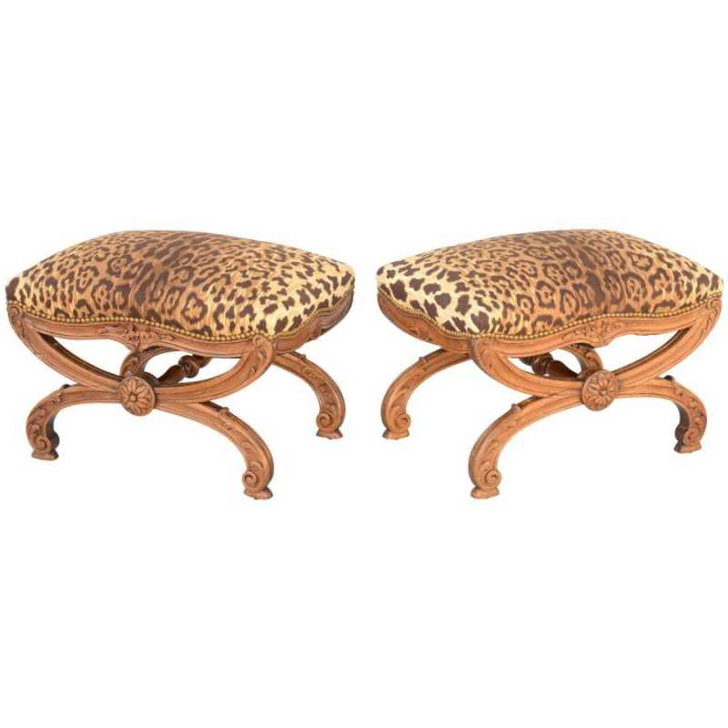 Pair of 19th C. Walnu... by  Italian  - Masterpiece Online