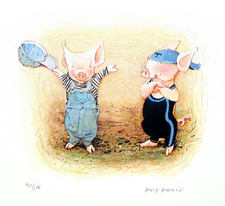 Toot And Puddle Cover  by  Holly Hobbie Print