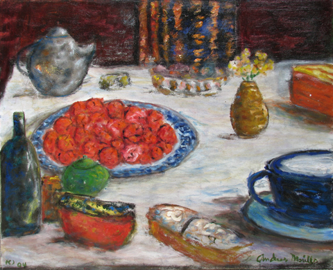 Breakfast Table with ... by  Andres  Morillo - Masterpiece Online