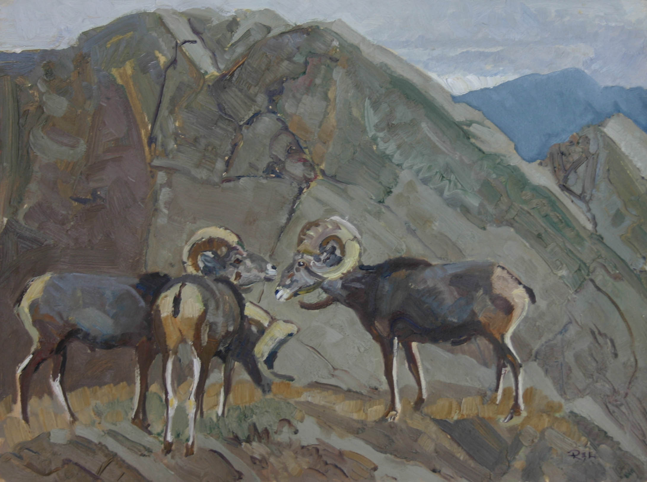 Stone Sheep by  Robert Lougheed - Masterpiece Online
