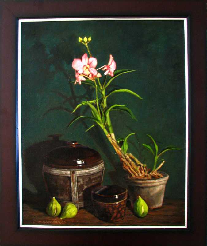 Orchid and Figs by  Snowden Hodges - Masterpiece Online
