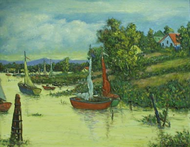 Boats Coming Home by  Andres  Morillo - Masterpiece Online
