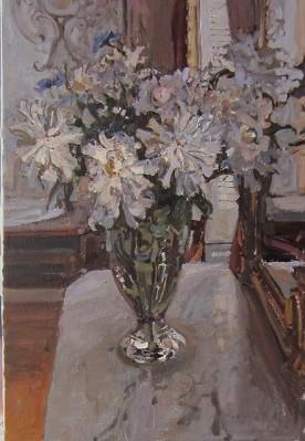 Silver Light (Peonies... by  Daud Akhriev - Masterpiece Online