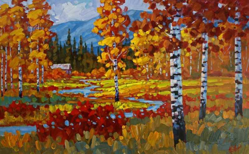 October Near Enderby by  Ken Gillespie - Masterpiece Online