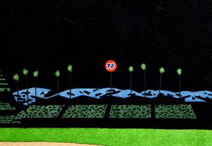 Dodgers Stadium Z  by  Yan Nascimbene Prints