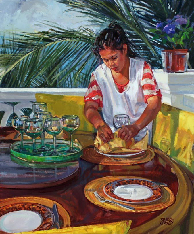 Sun-lit Patio by  Barbara Summers Edwards - Masterpiece Online