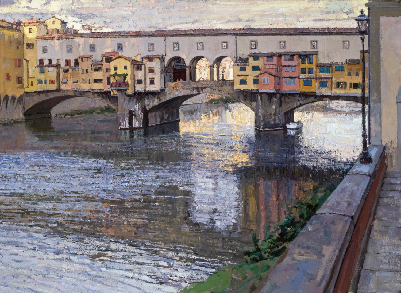 Ponte Vecchio Sunset by  Daud Akhriev - Masterpiece Online
