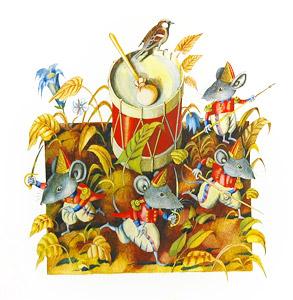 Mice With Large Drum by  Valery Vaseliyev - Masterpiece Online