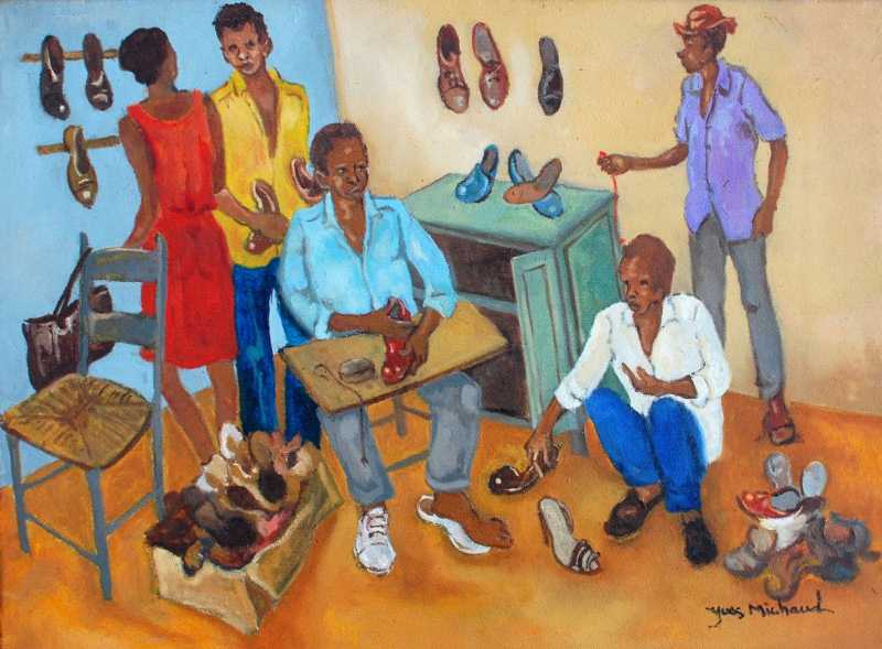 At the cobbler's by  Yves MICHAUD - Masterpiece Online