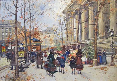 Flower Market, La Mad... by  E. Galien Laloue  - Masterpiece Online