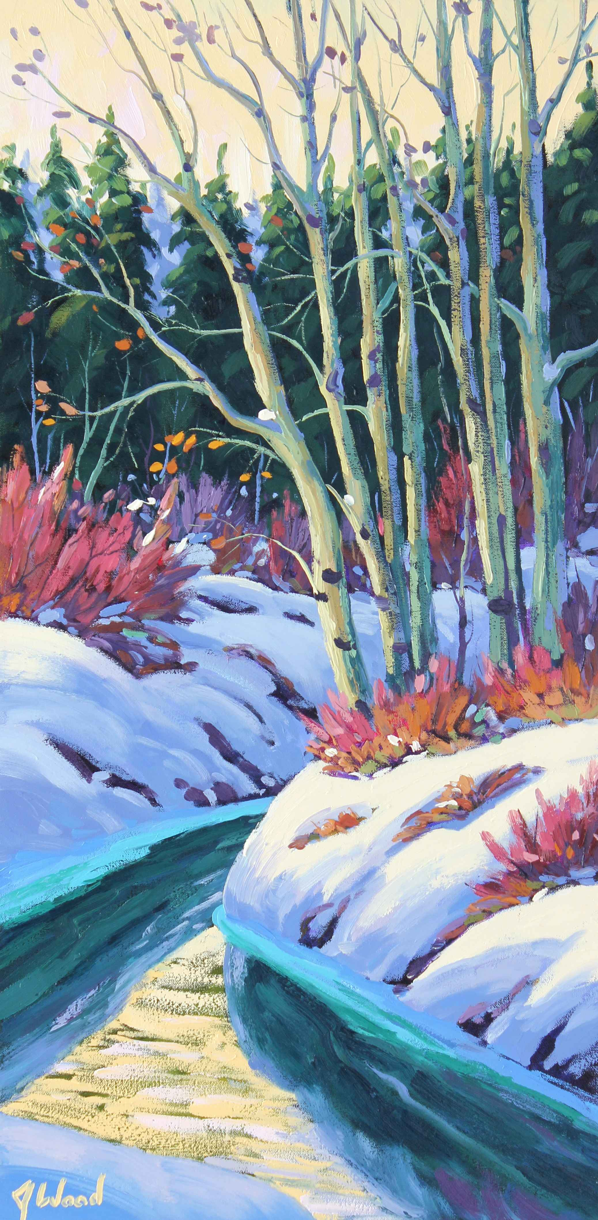 Creekside Willows and... by  James Wood - Masterpiece Online