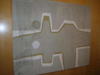 Abstract White/Gray/G... by  Italo Valenti - Masterpiece Online