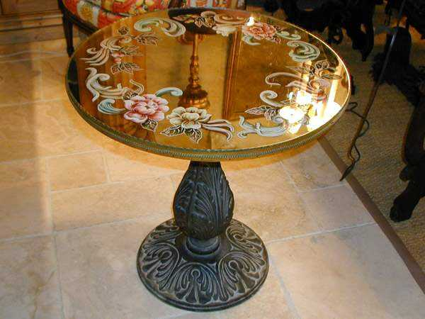 Eglomise End Table by  Italian  - Masterpiece Online