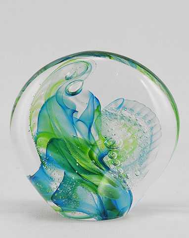 Paperweight/Turquoise by  Michelle Kaptur - Masterpiece Online