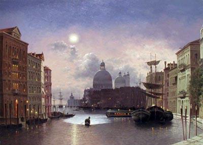 Venice by Moonlight by  Vasily Gribennikov - Masterpiece Online