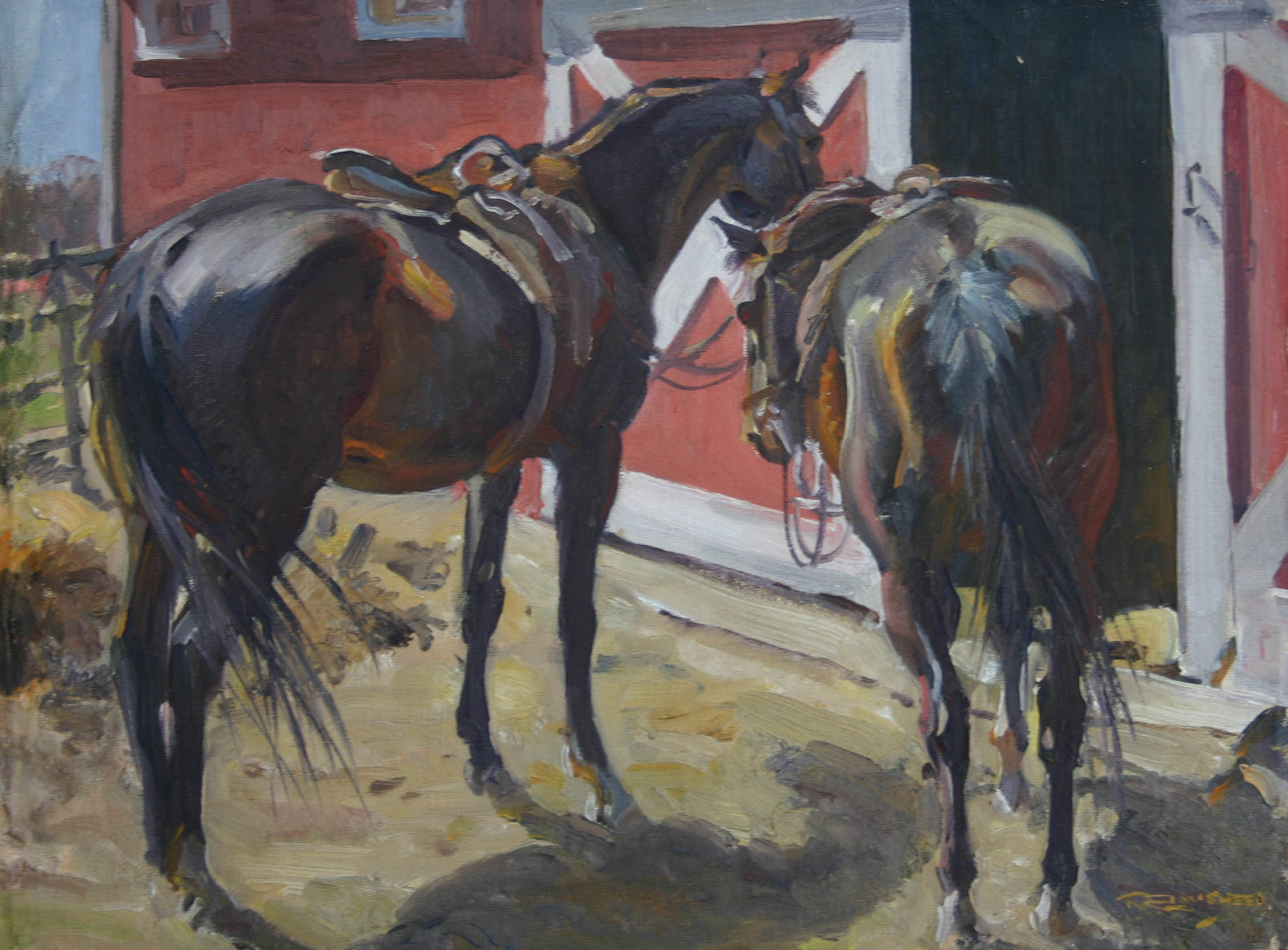 Two Eastern Saddled H... by  Robert Lougheed - Masterpiece Online