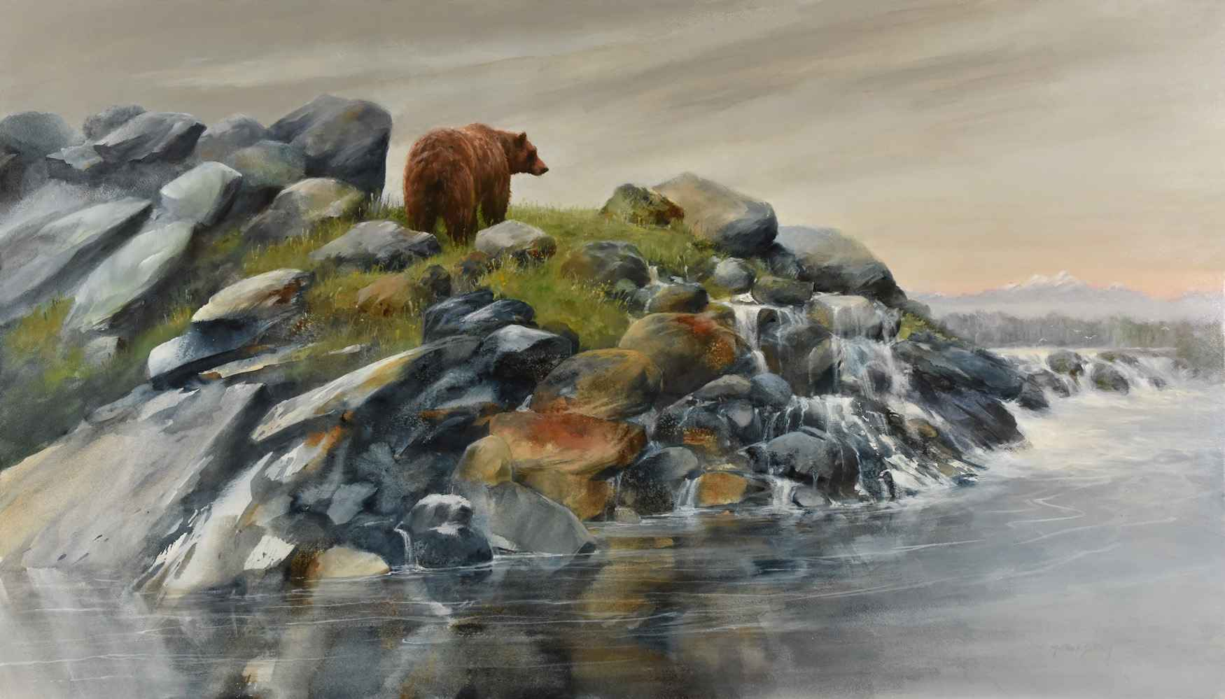 Waiting for the Salmon by  Morten E. Solberg - Masterpiece Online
