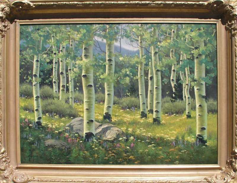 Spring Aspens by  Robert Harper - Masterpiece Online