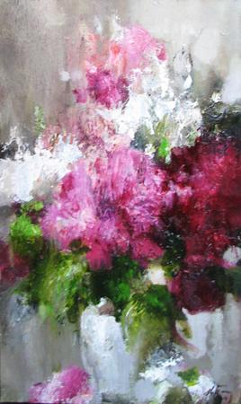 Peony Bouquet by  Nikolai  Blokhin  - Masterpiece Online