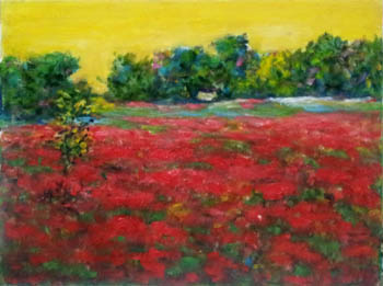 Field with Red Flowers by  Andres  Morillo - Masterpiece Online