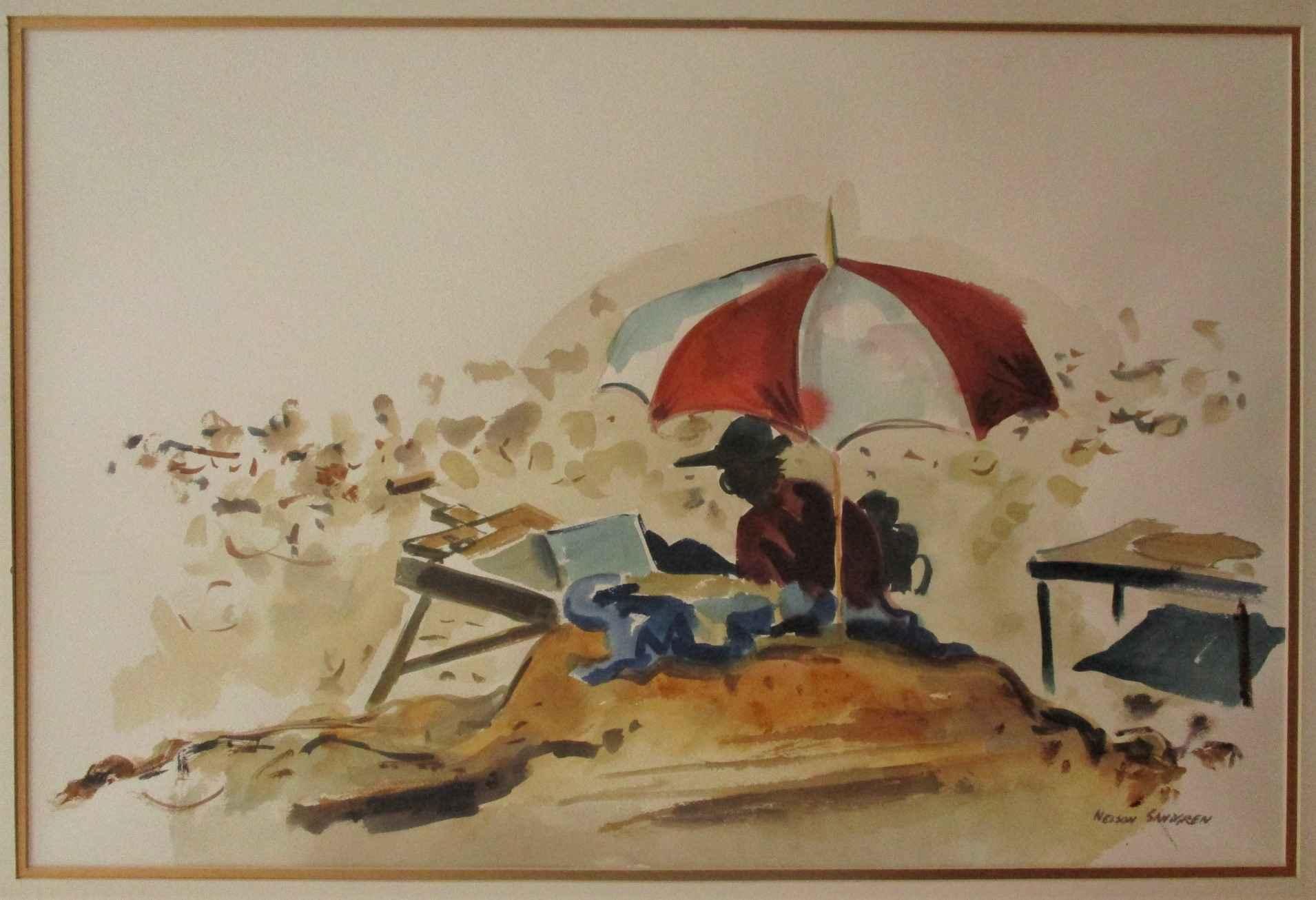 Unknown (Painter at B... by  Nelson Sandgren - Masterpiece Online