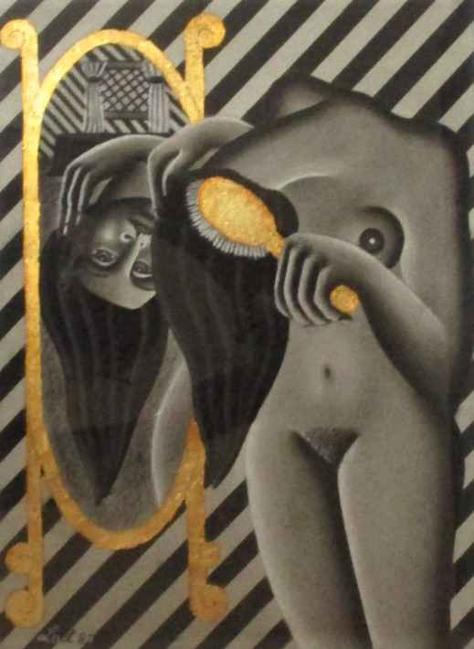 Woman Brushing her Ha... by  Lori-Ann Latremouille - Masterpiece Online