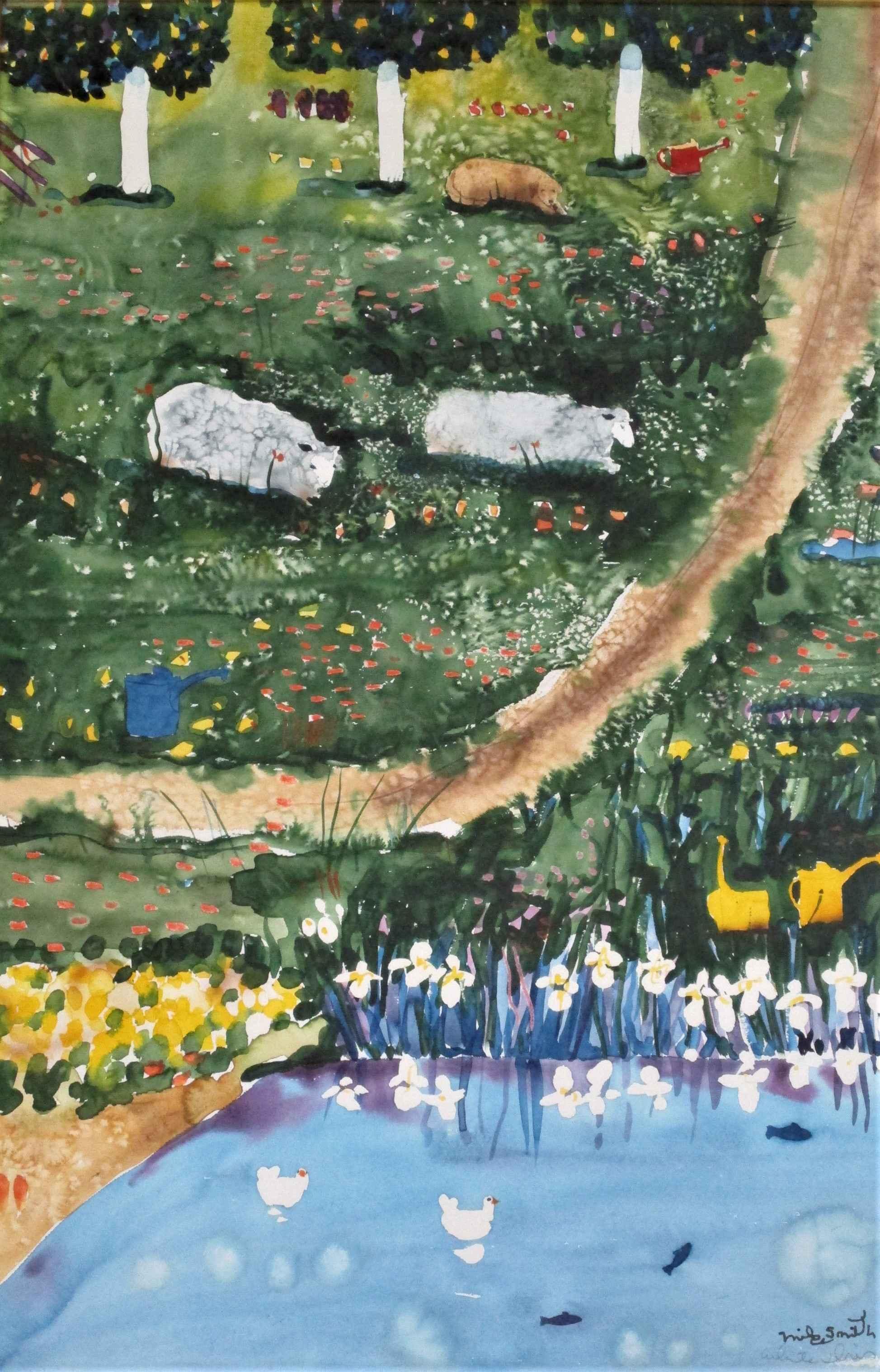 White Iris by  Mike Smith - Masterpiece Online