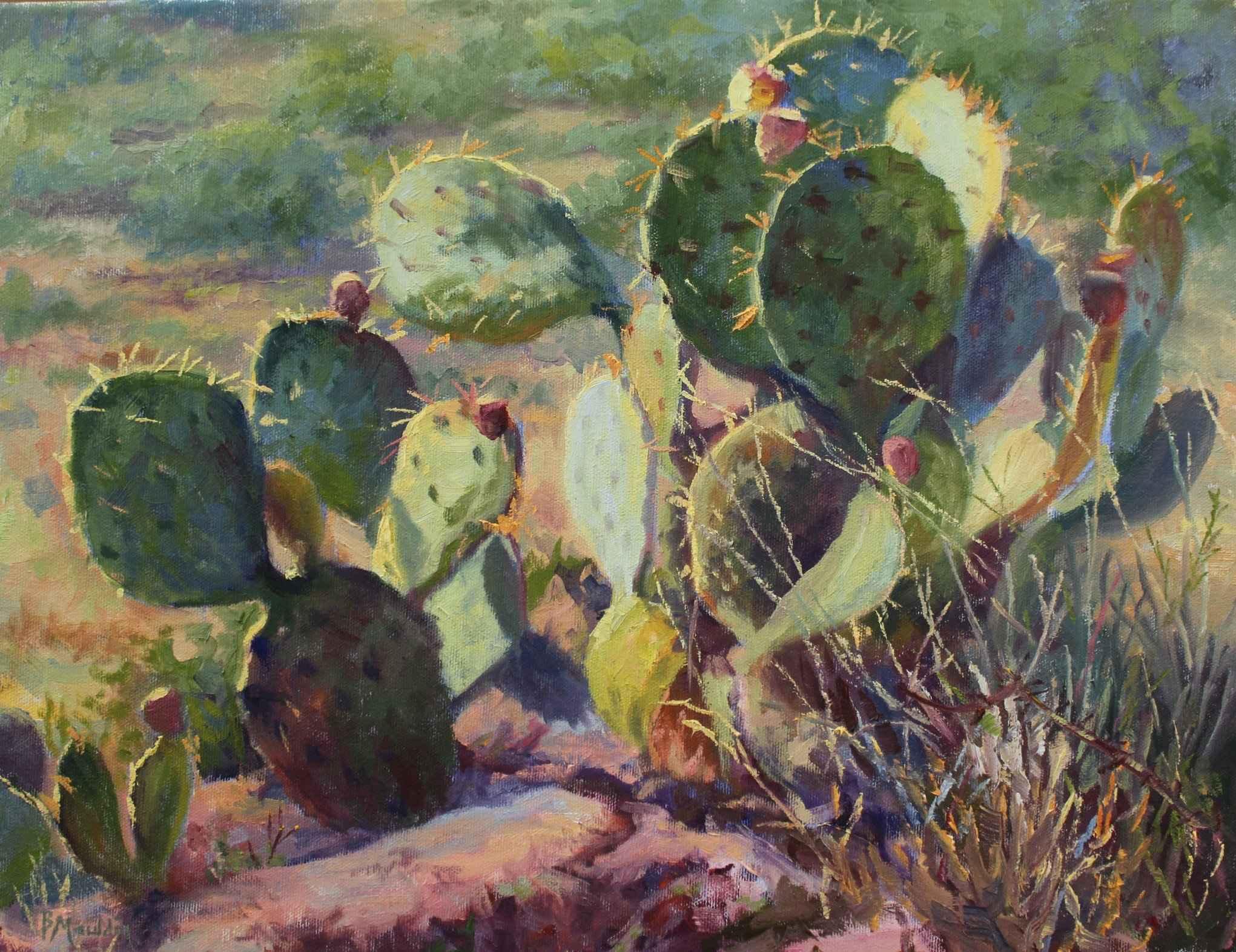 Hilltop Cactus by  Barbara Mauldin - Masterpiece Online