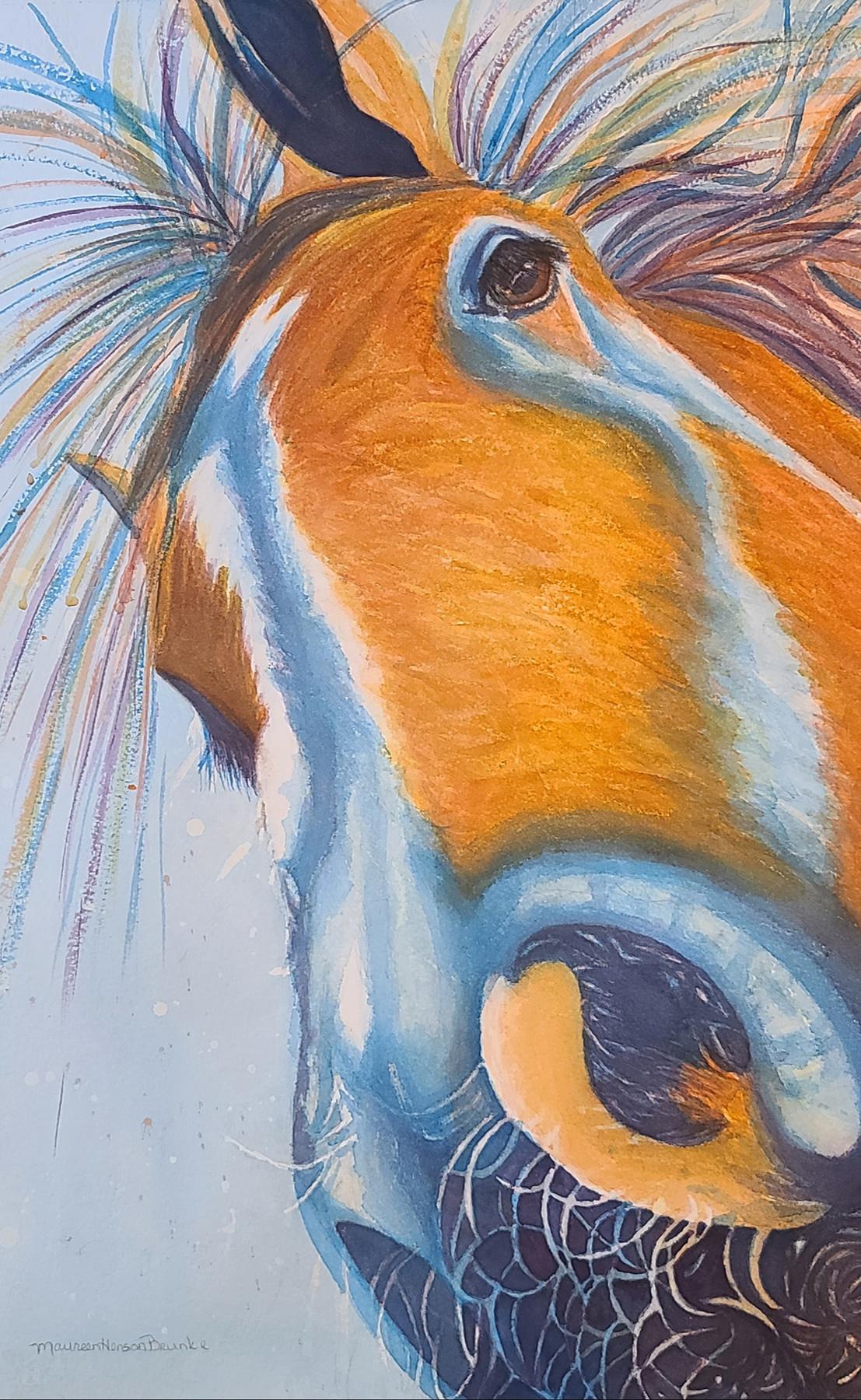 Blue by  Maureen Henson-Brunke - Masterpiece Online