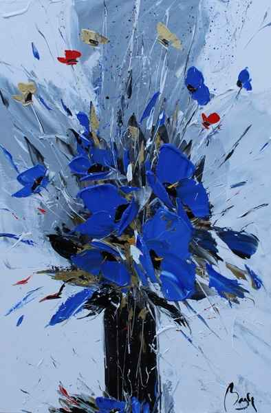 Blue with Gold & Red  by  Louis  Magre