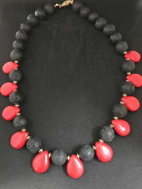 Volcanic Rock and Red... by Mrs Larissa Hale - Masterpiece Online