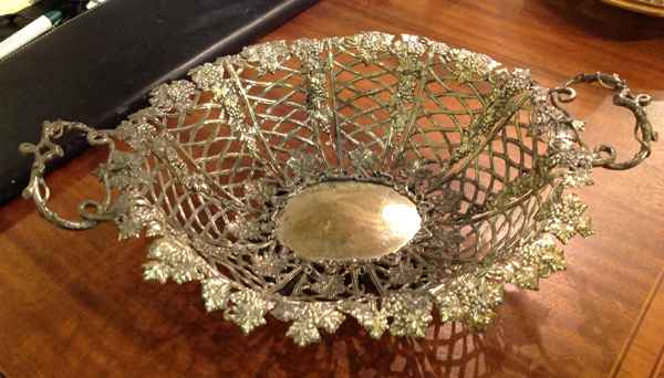 Silver Grape Basket by   English - Masterpiece Online