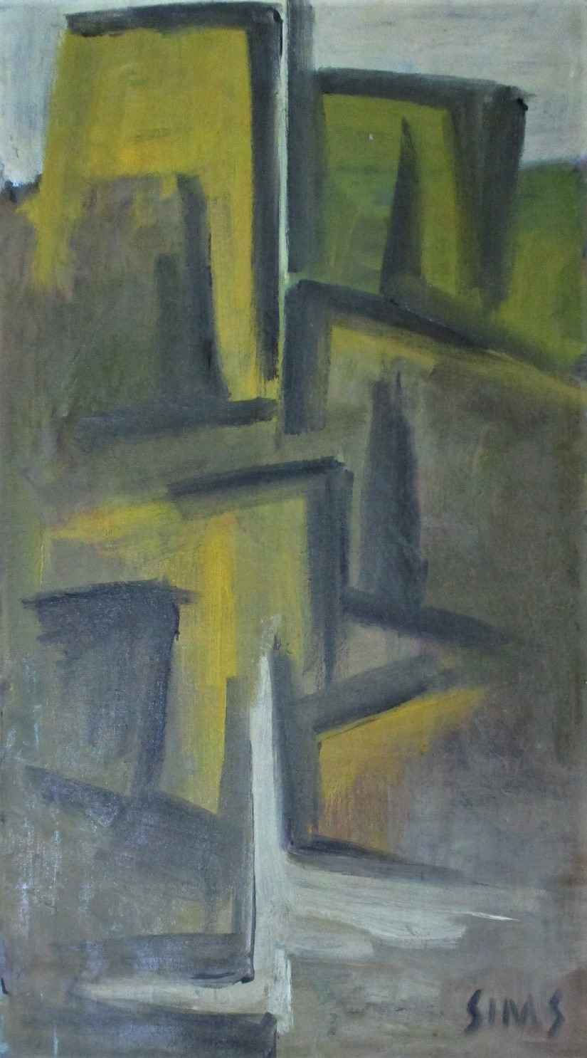 Vertical Abstraction ... by  Harold Alvin Sims - Masterpiece Online