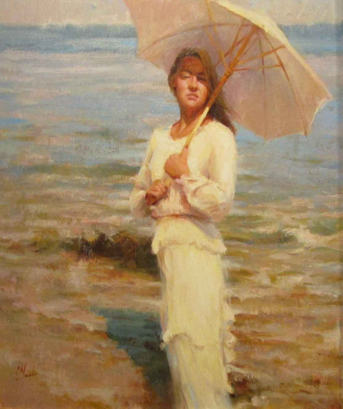 White Parasol by  Chuck Marshall - Masterpiece Online