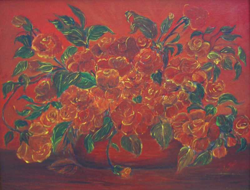 Red Roses by Ms. Madiha Farag-Miller - Masterpiece Online